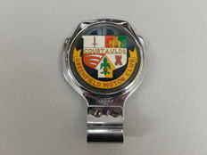 Vintage Greenfield Motor Club Heraldic Centre Design Renamel Metal Car Badge Auto Emblem In Nice Condition