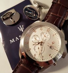 Maserati Traguardo Chronograph - men's wristwatch - unworn - in original box with documents - 2017