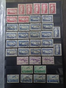 France 1930/1976 - Stock of Airmail stamps - between Yvert PA no. 7 to no. 49