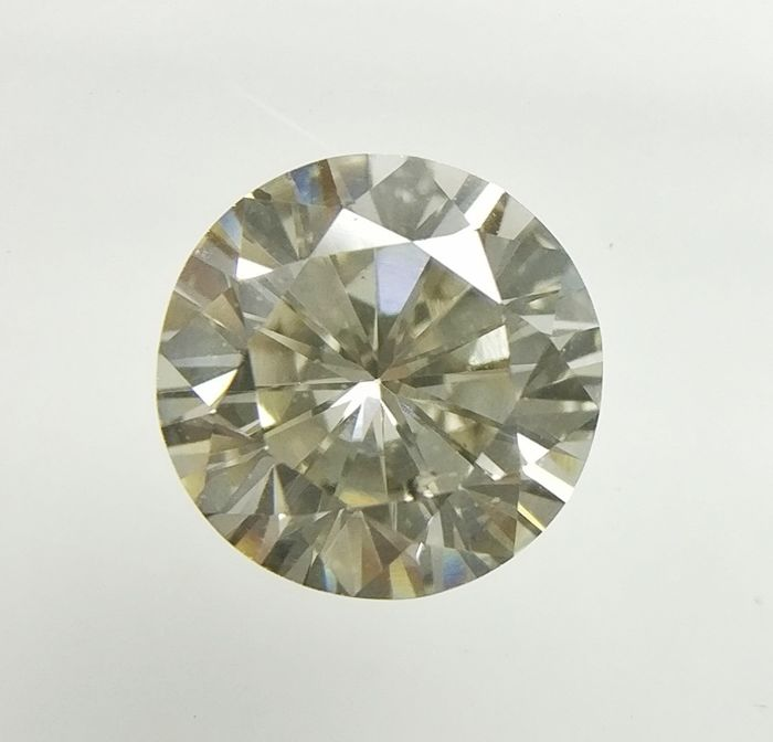 0.53 ct Round cut diamond Fancy Light Brownish Gray VS2  -No Reserve