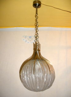 Pendant light in Murano glass