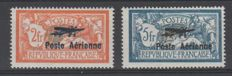 France 1927 - Airmail Poste Aerienne - Yvert 1 and 2