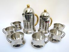 """Inoxpran """"orchidea"""" - 2 coffee pots with 6 cups"""