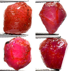 Lot of Natural Ruby - 21.90 ct (4)