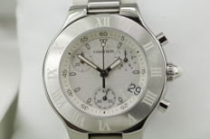 Cartier - 21 Chronoscaph NOS - New Old Stock - W10184U2 - Unisex - 2000-2010