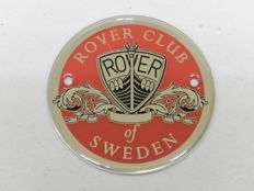 Original Rover Club of Sweden Car Badge Auto Emblem in Very Good Condition