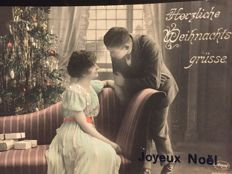 """ALBUM - NOSTALGIA & FANTASY - 180x - Theme """"Christmas & New Year's Eve"""" - Couple of """"Relief cards and cards with Gold imprint"""""""