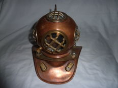 Vintage Copper and Brass Scuba Diving Helmet