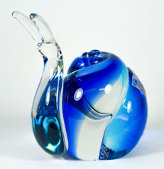 Michele Onesto (Murano) - Sommerso snail sculpture