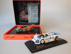 Minichamps - Scale 1/43 - Lot with 2 x Mazda 787B 24H Le Mans 1991