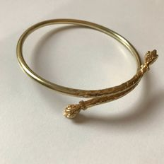 Solid 14 kt Gold Bangle - approx. 58 mm - approx. 20 grams - bracelet