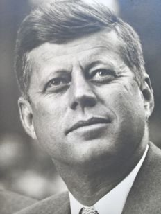 John F. Kennedy; Promotional photo with imprinted dedication and signature - 1960's