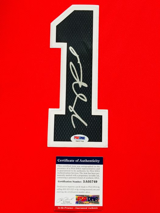 b9d3c41477c Derrick Rose  1   Chicago Bulls - Authentic   Original Signed Home Jersey -  with Certificate of Authenticity PSA DNA