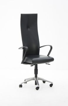 Burkhard Vogtherr for Fritz Hansen - Desk chair 'Spin', black leather