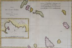 Cape Verde Islands, Sao Vicente; M. Bonne & N. Bellin - Isles du Cap Verd/Plan de la Ville et des Forts the St. Vincent - 1787 / 1757