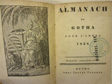 Almanach de Gotha; Lot with eight volumes - 1828-1836