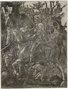 Albrecht Durer (1471-1528), Anonymous,  Knight, death and the devil,  17th century