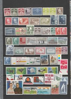 Denmark - Collection of stamps including blocks and booklets