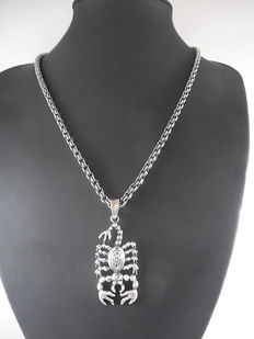 Necklace in 925 silver with pendant - 50 cm