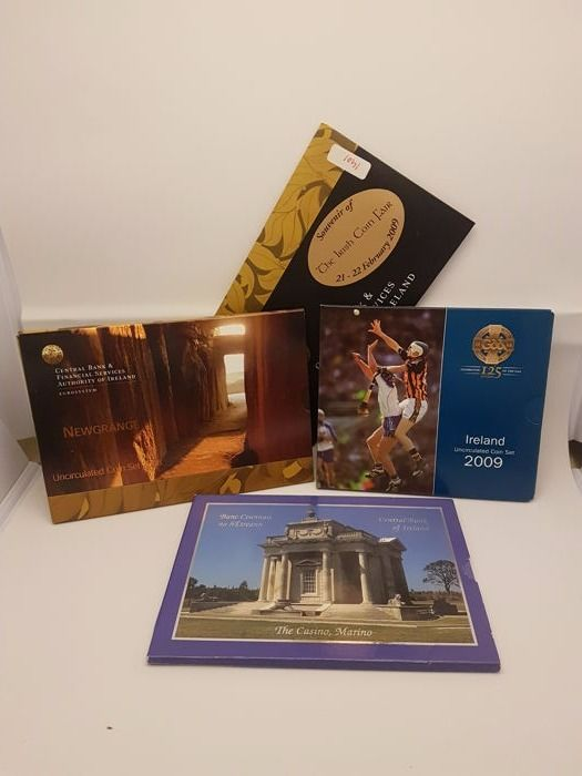 Ireland - Year packs Euro coins 2003, 2008 and 2009 + Coin Fair set 2009 (4 different in total)