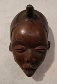 Chokwe, Initiation Mask - Mwano Pwo, D.R. Congo.