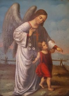 Probably France 18th Century The Guardian Angel Guiding The