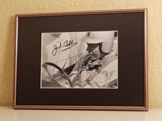 Jack Brabham (RIP)  - Multiple Worldchampion Formula 1 -  hand signed framed photo + COA.