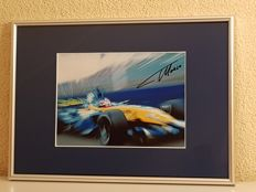 Fernando Alonso - 2x Worldchampion Formula 1 - hand signed framed photo + COA.