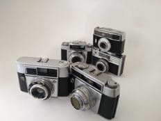 Collection of 5 Agfa cameras