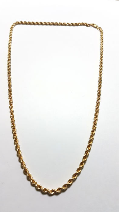 Solomonic style cord chain in 18 kt gold Length: 50 cm