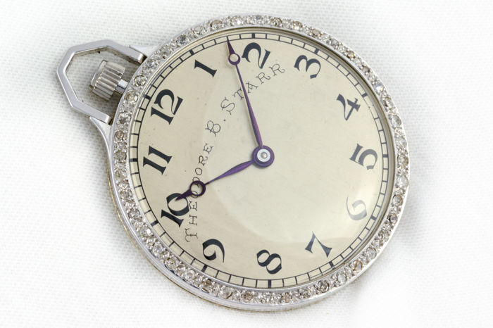 Theodore B. Starr -  Platinum and Diamonds Pocket Watch - Men - 1901-1949