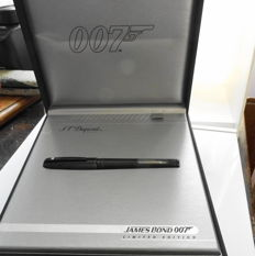 Fountain pen ST. DUPONT JAMES BOND PVD black, complete set in new storage condition