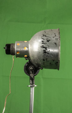 Unknown designer - Industrial style stage lamp with adapted tripod