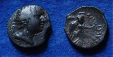 Roman Empire  - AE 19 of Pompey the Great (1st century BC.) Cilicia, reverse NIKE (p716)