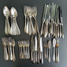 Wellner cutlery for 12 persons- 100 silver-plated - 1950-1960s - 66 pieces