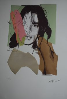 Andy Warhol - Mick Jagger-  Off Set Lithograph Georges Israel Editeur limited Edition