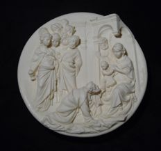 Carved Art of Jesus Birth Scene -  A. SANTANGELA