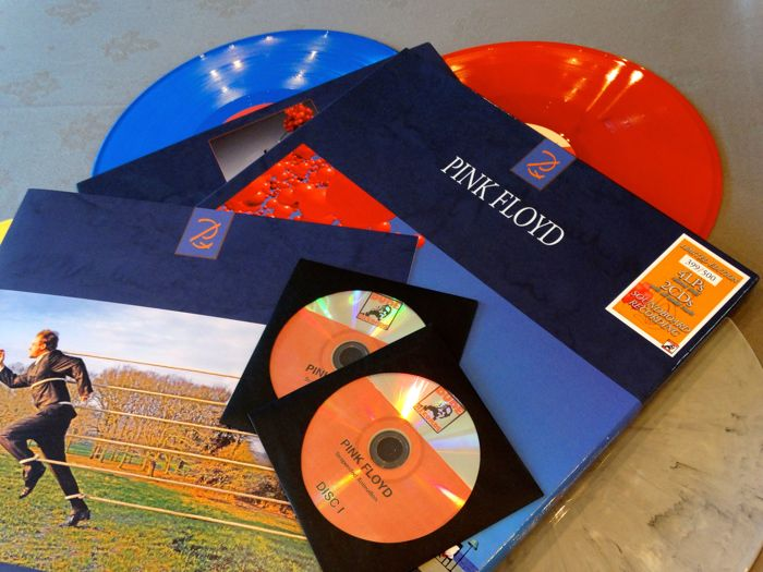 "Pink Floyd ‎""Suspended Animation"". A limited edition box-set -numbered- that includes booklet, 4 coloured vinyl albums and 2 CD's"