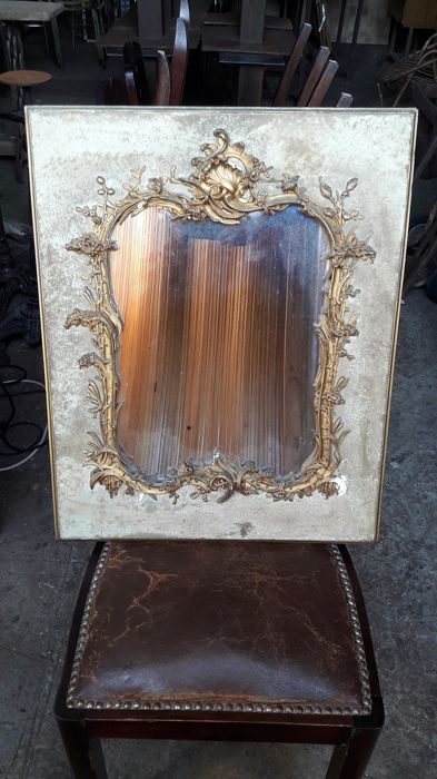 Mirror frame in wood and gilt stucco in Louis XV style - 19th period- France