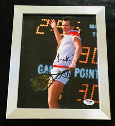 John McEnroe - Authentic & Original Signed Autograph in Premium Framed Photo ( 20x25cm ) - with Certificate of Authenticity PSA/DNA