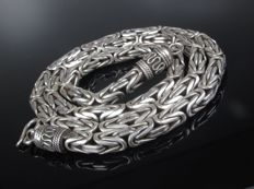 97 g XL silver necklace curb chain