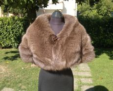 Fox Fur Stole Coat/Cape - Pelzmantel - Colour: Sab - Bontjas