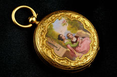 Junod Freres ladies enamel pocket or pendant watch - Damen - 1850-1900