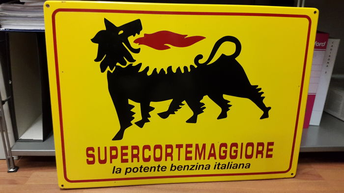 Enamelled sign Supercortemaggiore - 1990s