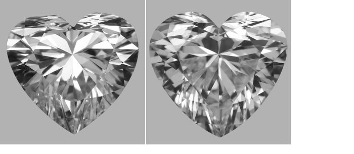 Pair - Heart Brilliant Diamonds 1.42ct total D VS1  GIA - Low Reserve Price - # J435-J7360