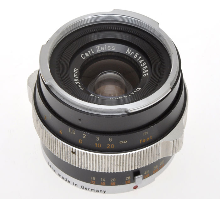 Carl Zeiss 35mm F:4 Distagon black finish for Contarex cameras