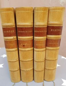 Leconte de Lisle; Lot with 4 classics translated by him in uniform volumes - without year