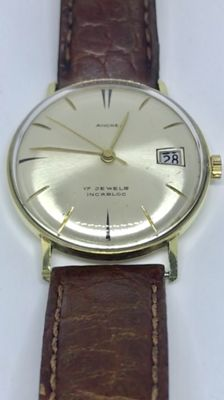 Gold Ancre wristwatch - men's - 1960 - 1969. No reserve price