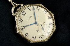 Elgin Watch Company - Pocket watch octagonal - Herren - früher als 1850