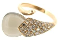 Capriotti Gioielli – Ring inspired by the shape of a calla, 18 kt rose gold – 10.50 ct smoky quartz, 0.53 ct fancy brown diamonds